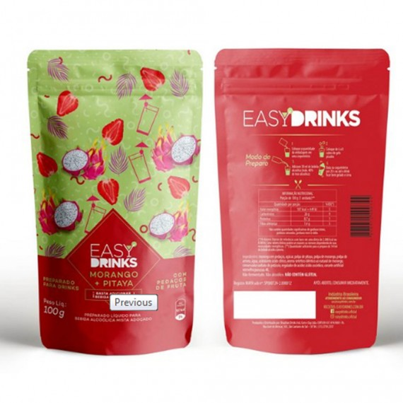 Preparado Easy Drinks Morango e Papaya 100g