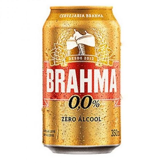 Cerveja Brahma Lata sem álcool 350ml zero