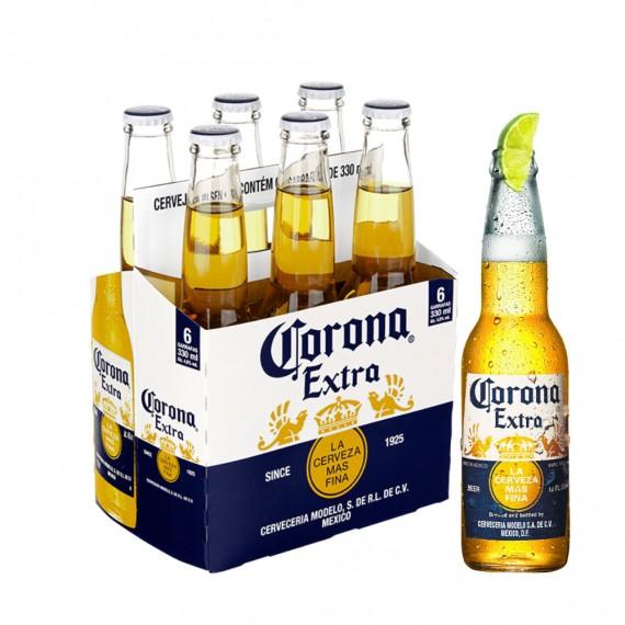 Cerveja Long Neck  Corona 330ml Pack com 6