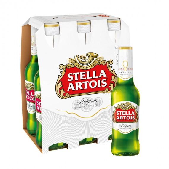 Cerveja Long Neck Stella Artois 330ml Pack com 6