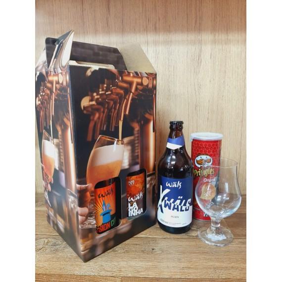 Kit Box Cerveja Wals 600ml 3 + 1 Taça