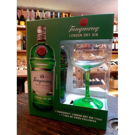 Kit Gin Tanqueray 700ml + Taça VIDRO 580ml personalizada