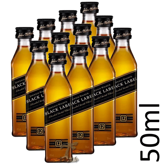 Whisky John Black Label 12 anos 50ml un.
