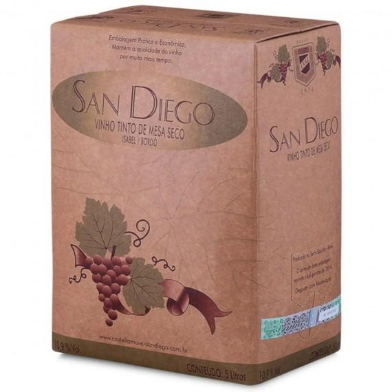 Vinho Bag In Box San Diego Seco 5L