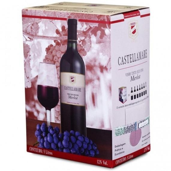 Vinho Bag In Box Castellamare Cabernet Sauvignon 5L