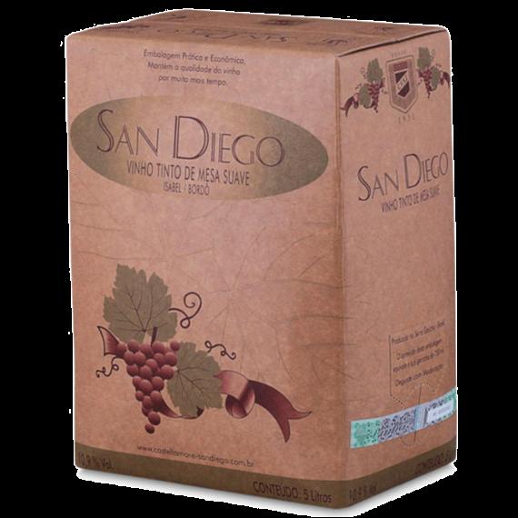 Vinho Bag in Box San Diego Tinto Suave 5L