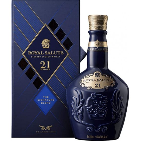 Whisky Royal Salute 21 anos Azul Saphire 700ml new